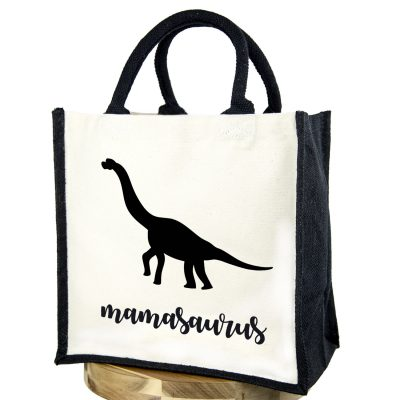 Mamasaurus canvas bag (Black bag - Black text) | Canvas bag | Stickerscape | UK