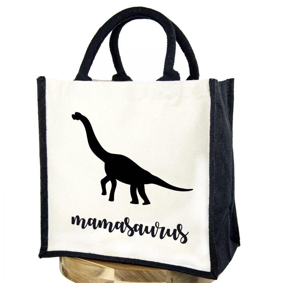 Mamasaurus canvas bag (Black bag - Black text) | Canvas bag | Stickerscape | UK