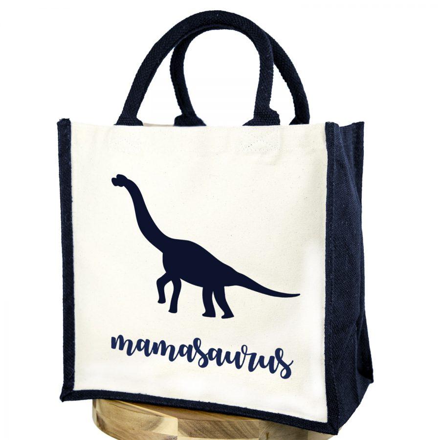 Mamasaurus canvas bag (Navy bag - Navy text) | Canvas bag | Stickerscape | UK