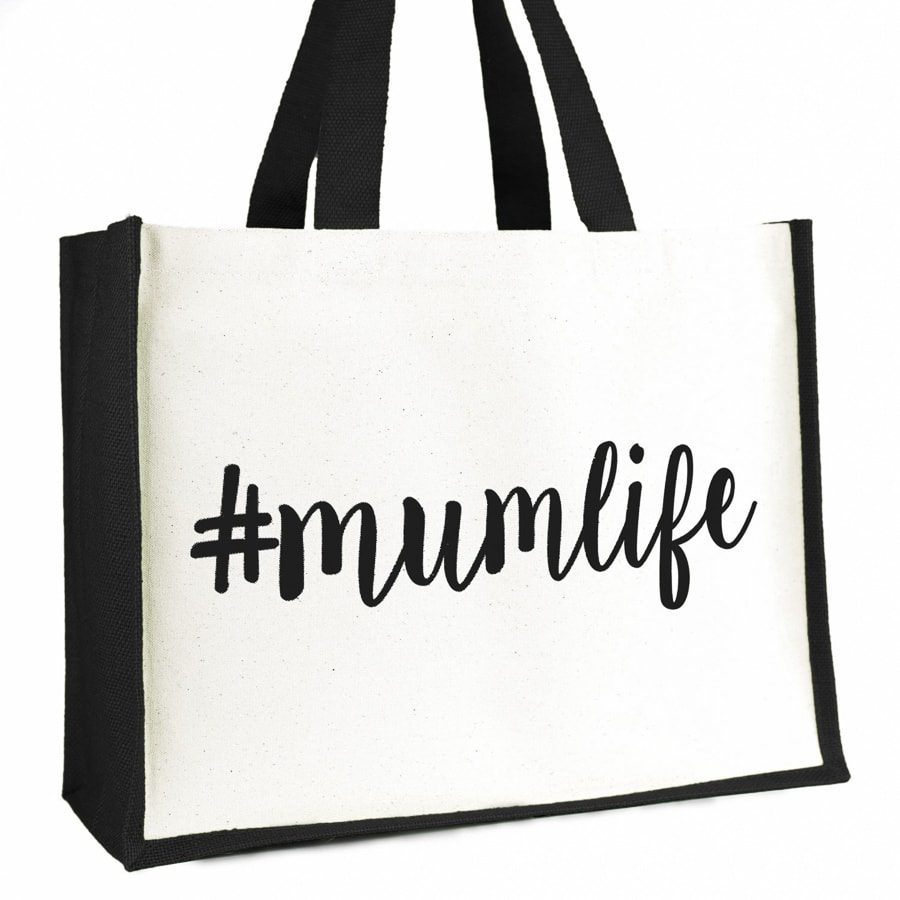 #mumlife shopper bag (Black) | Gifts for mum | Stickerscape | UK