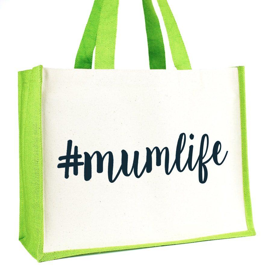 #mumlife shopper bag (Green)   Gifts for mum   Stickerscape   UK