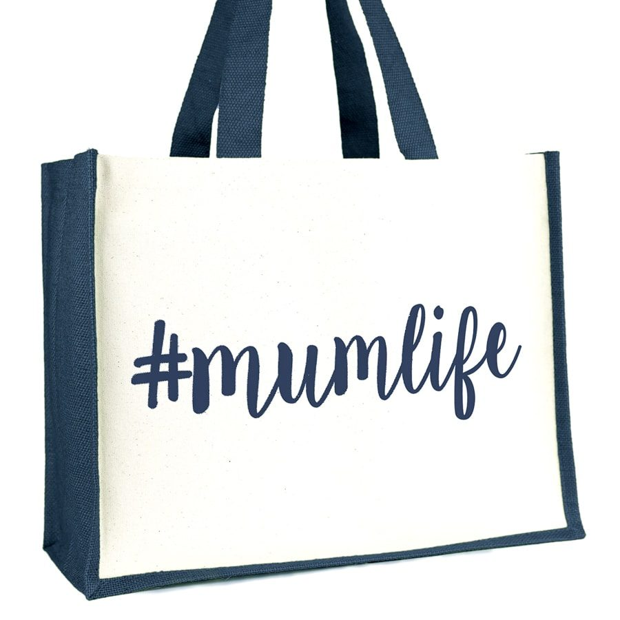#mumlife shopper bag (Navy)   Gifts for mum   Stickerscape   UK