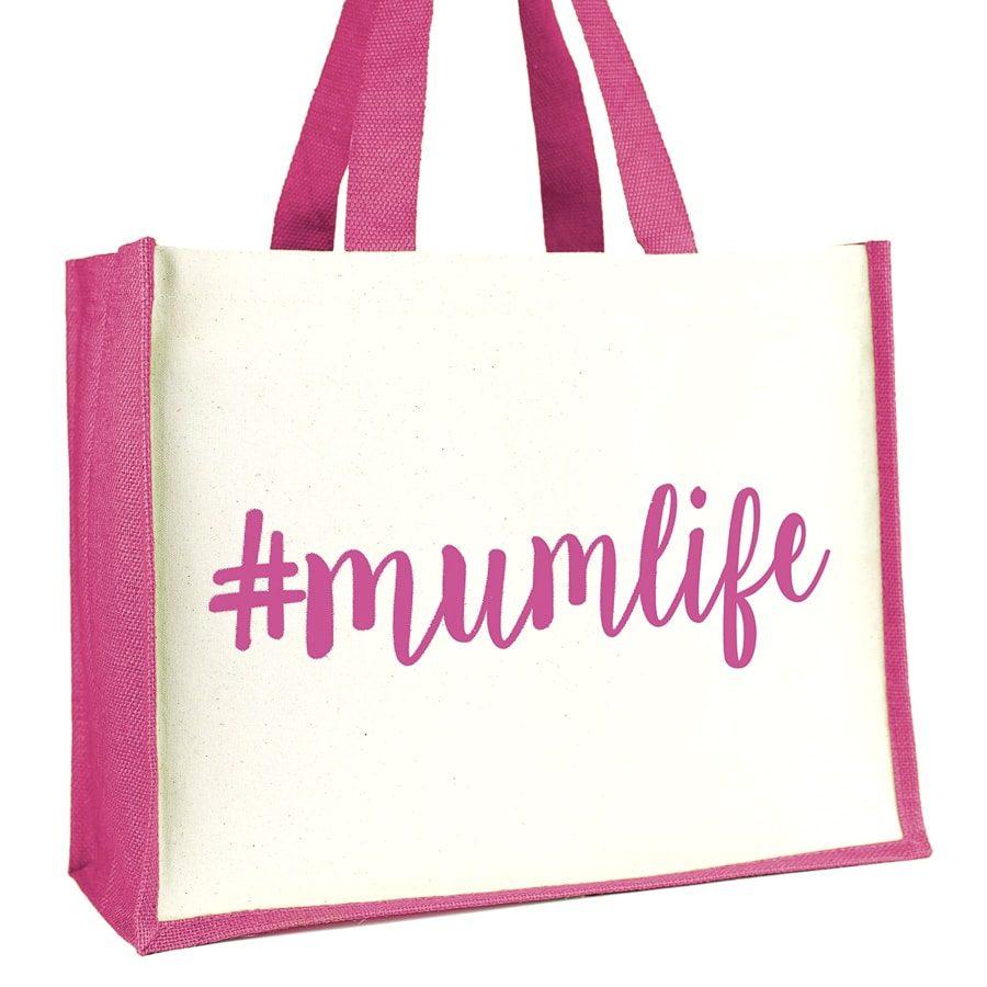 #mumlife shopper bag (Pink) | Gifts for mum | Stickerscape | UK
