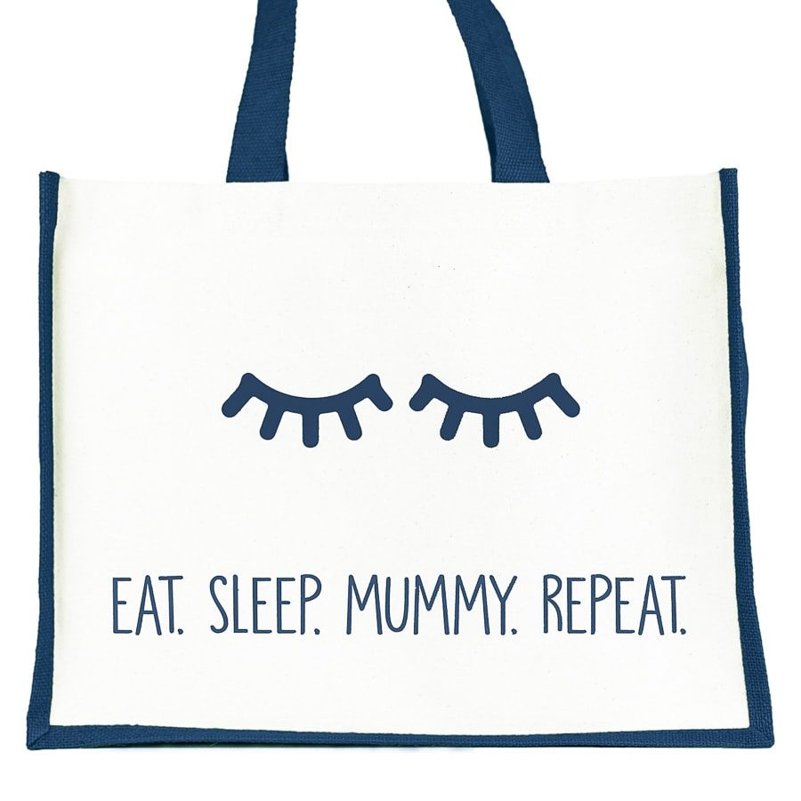 Eat. Sleep. Mummy. Repeat shopper bag (Navy) | Gifts for mum | Stickerscape | UK