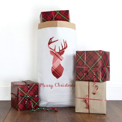 Merry Christmas stag paper sack | Paper sacks | Stickerscape | UK
