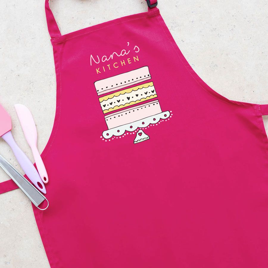 Grandma's Kitchen apron (Pink) perfect gift for a grandmother or mother who loves to bake
