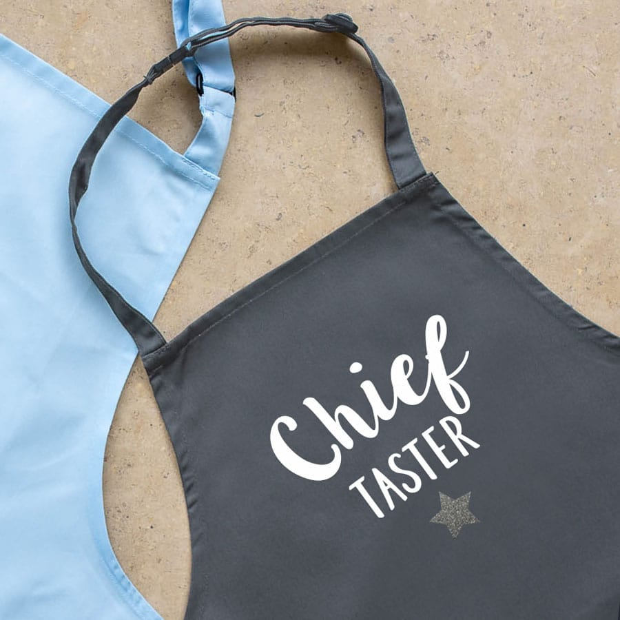 Chief baker child's apron (Grey) perfect gift for a child who loves to help out when baking!