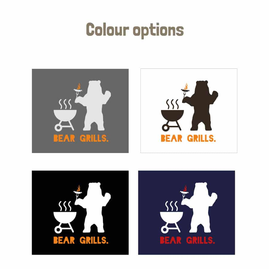Bear Grills apron (Adult) colour options