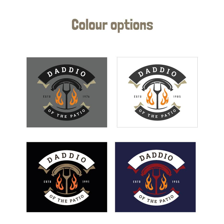 Daddio of the patio apron (Adult) colour options