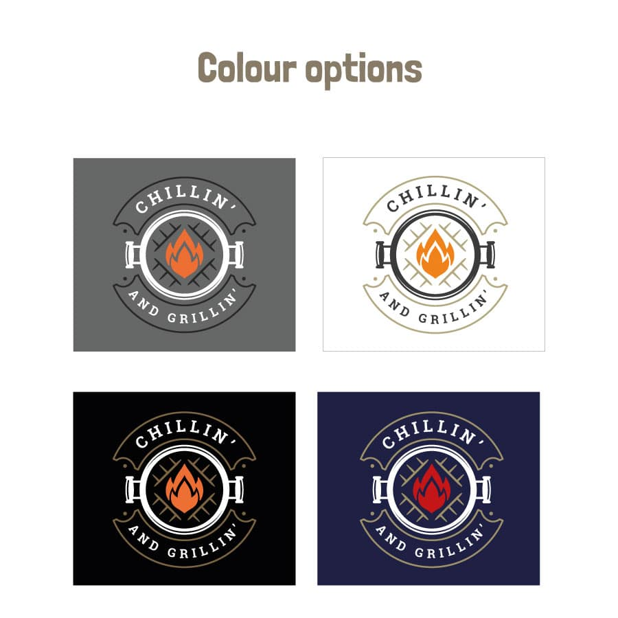 Chillin' and grillin' apron (Adult) colour options