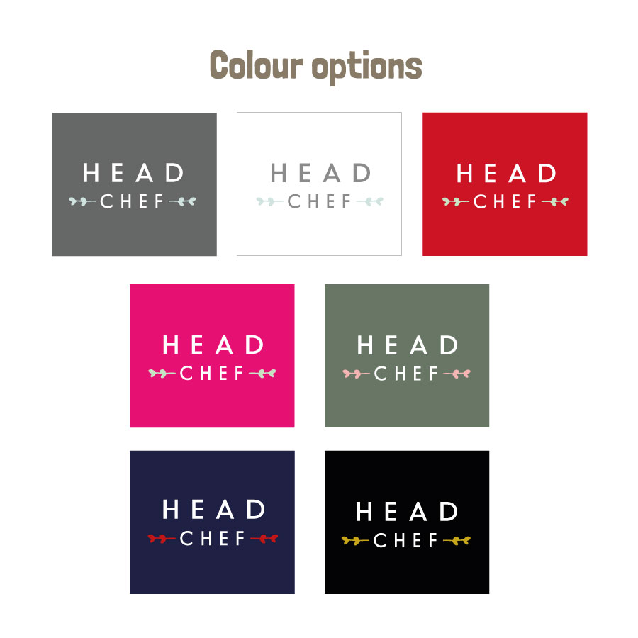 Head chef apron (Colour options)