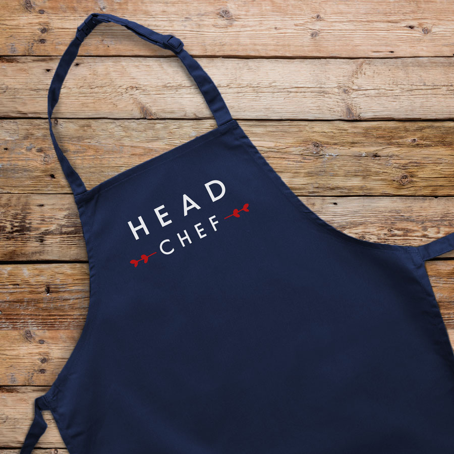 Head chef apron (Navy) perfect gift for father's day, mother's day or birthdays