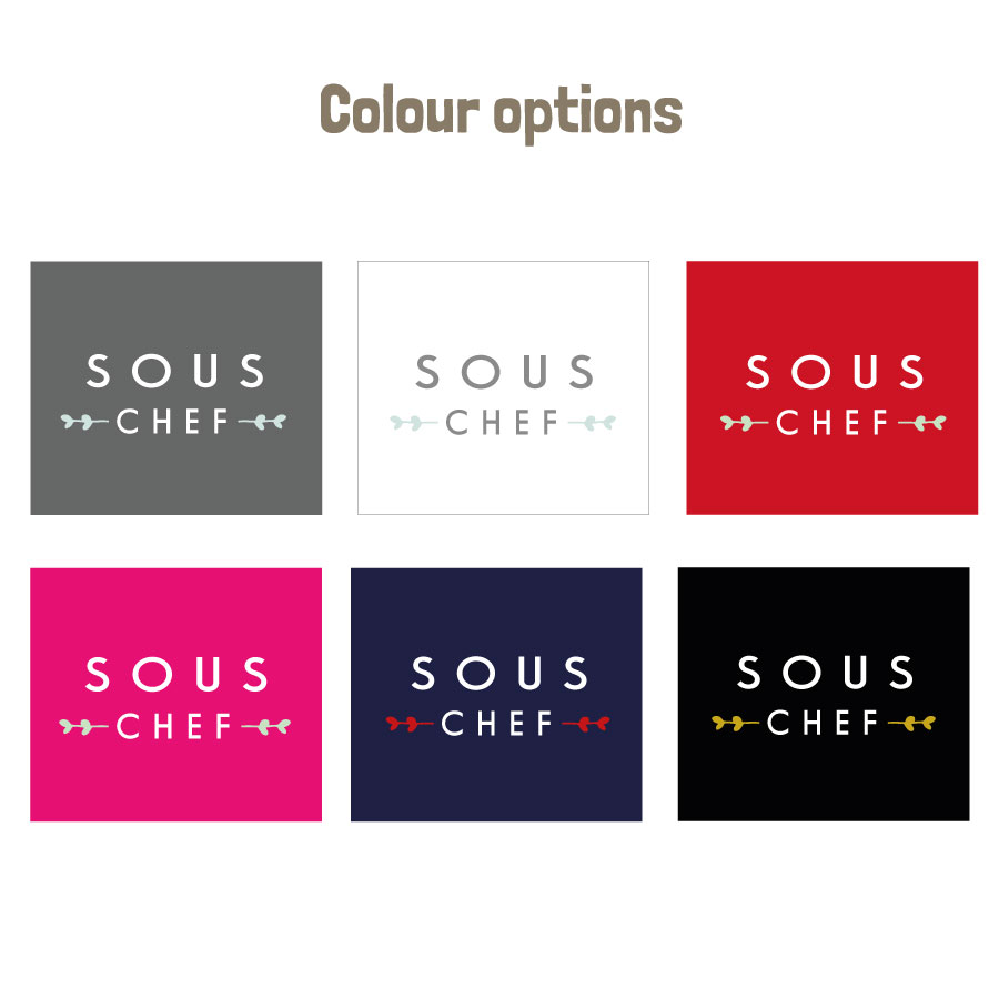 Personalised sous chef apron (colour options)