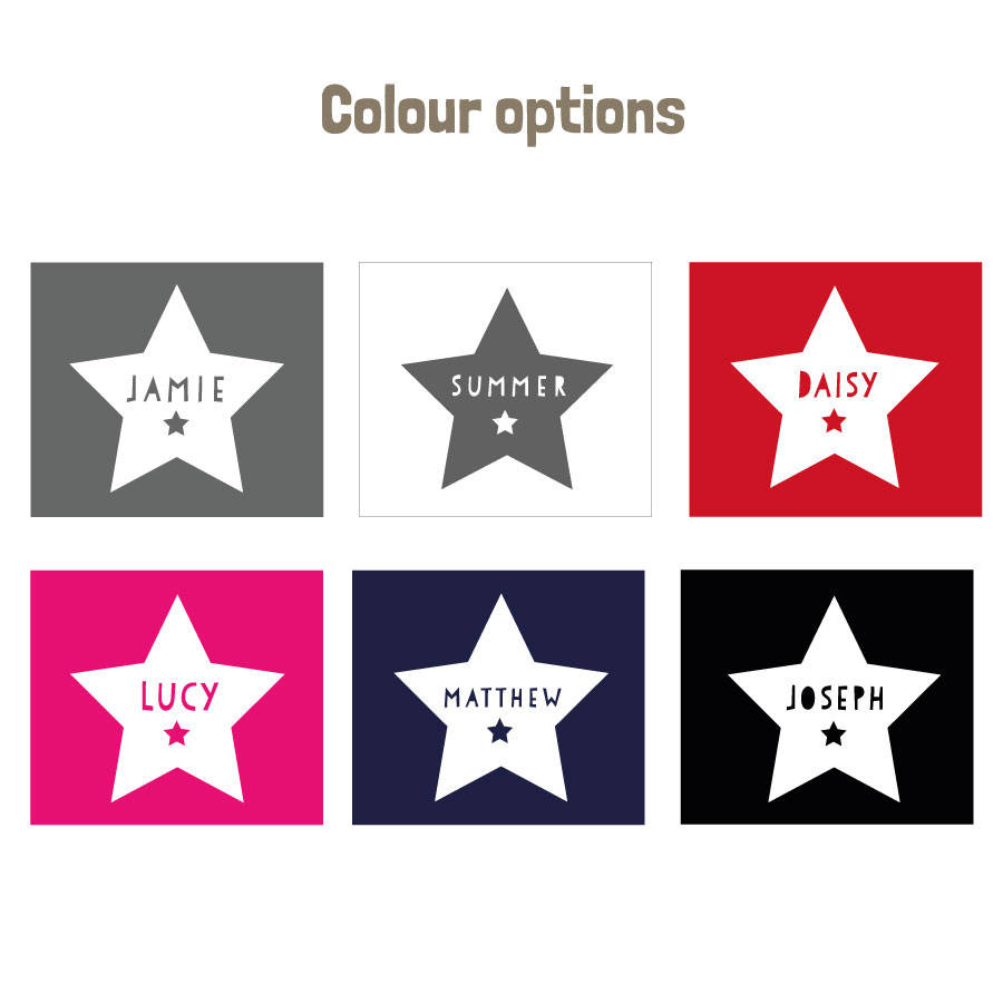 Personalised star apron (colour options)