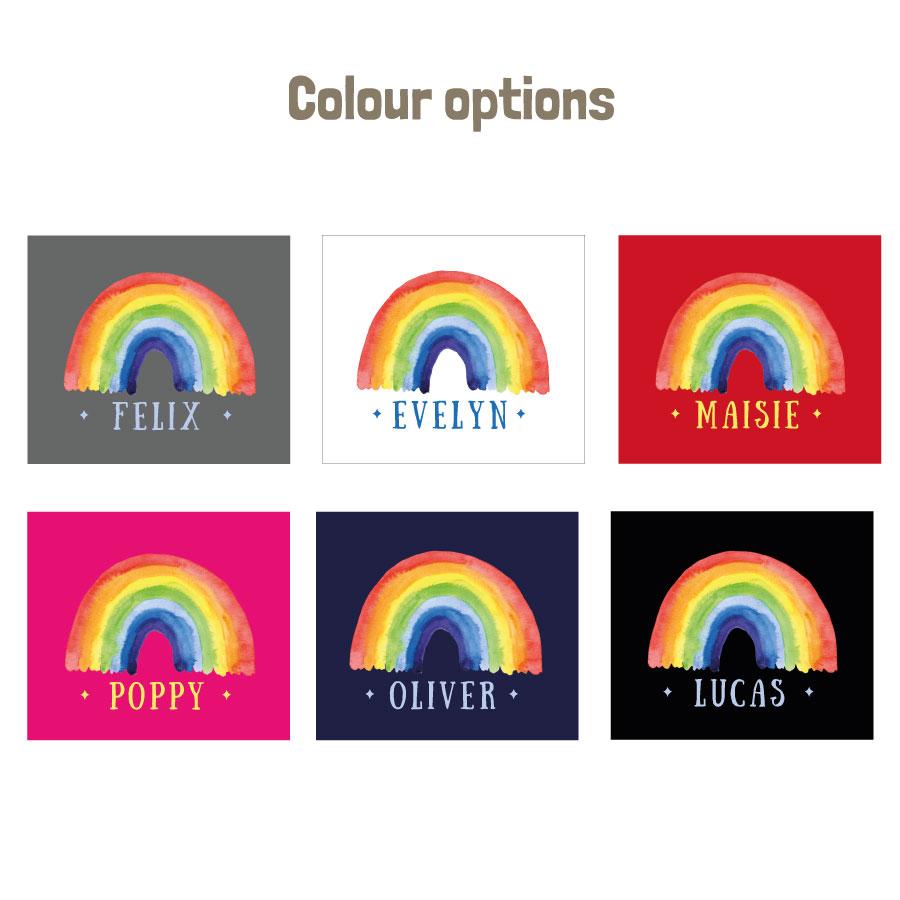 Personalised rainbow apron (colour options)