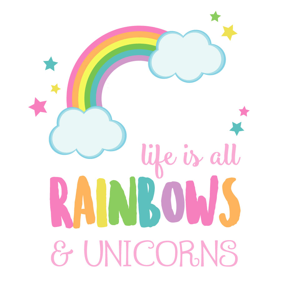 Life is all rainbows and unicorns wall sticker | Stickerscape | UK