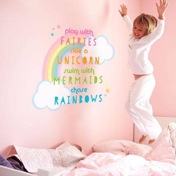 Unicorn quote wall sticker | Unicorn wall stickers | Stickerscape | UK