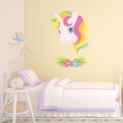Pretty unicorn wall sticker | Unicorn wall stickers | Stickerscape | UK