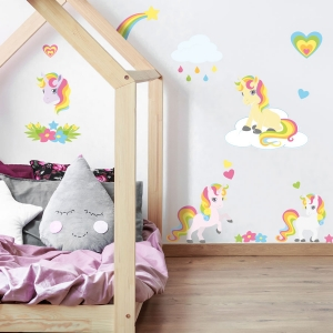 Unicorn stickarounds | Unicorn wall stickers | Stickerscape | UK