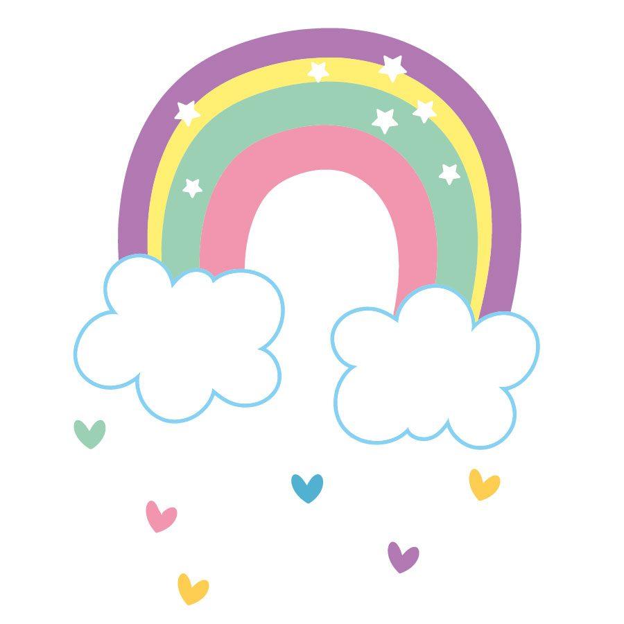 Rainbow and hearts window stickers | Unicorn stickers | Stickerscape | UK