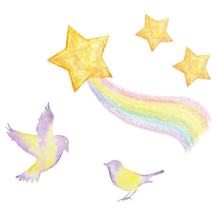 Mythical stars and birds window stickers | Window stickers | Stickerscape | UK