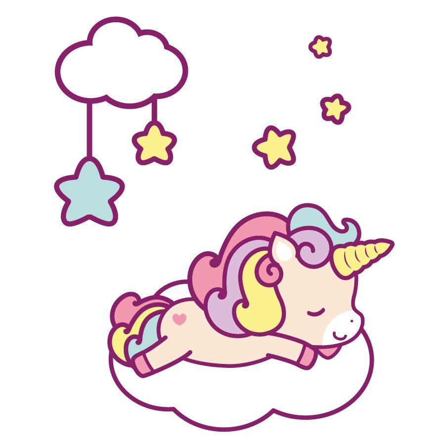 Cute unicorn and cloud window sticker   Window stickers   Stickerscape   UK