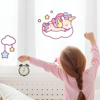 Cute unicorn and cloud window sticker | Window stickers | Stickerscape | UK