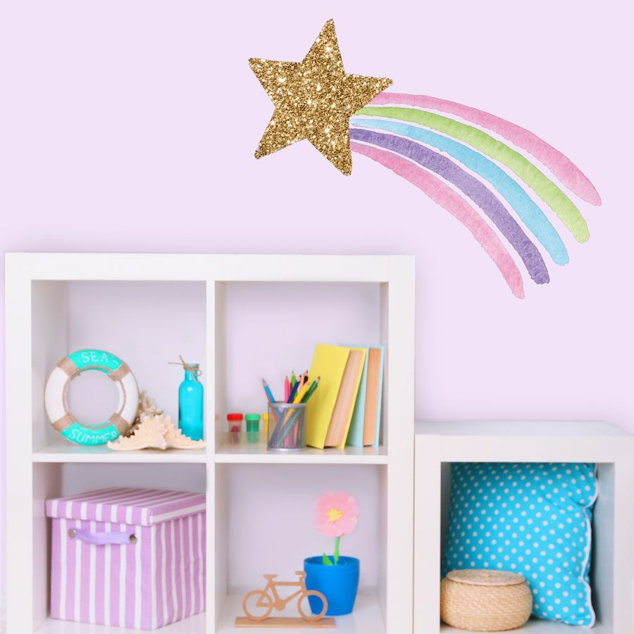 Shooting star wall sticker | Unicorn wall stickers | Stickerscape | UK