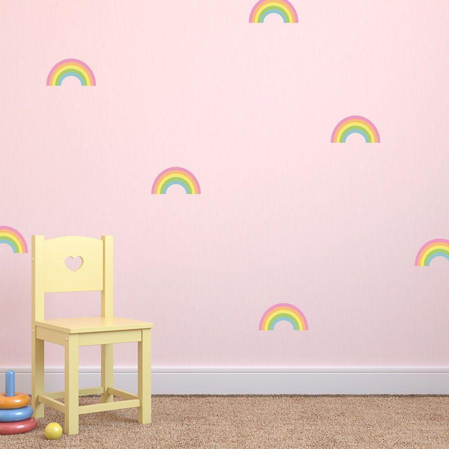 Rainbow stickaround wall stickers | Shape wall stickers | Stickerscape | UK