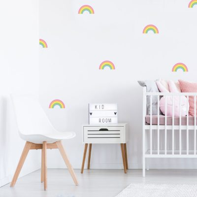 Rainbow stickaround wall stickers | Shape wall stickers | Stickerscape | UK