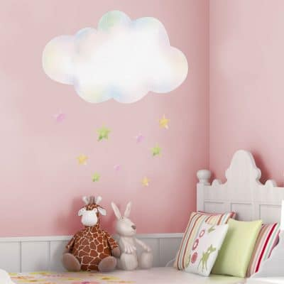 clouds with stars in large size perfect for a girls bedroom