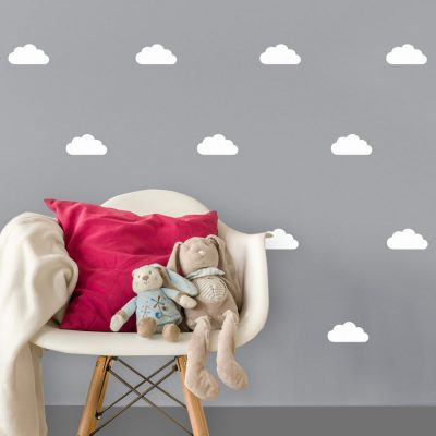White cloud wall stickers | Cloud wall stickers | Stickerscape | UK