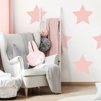 Pink giant star wall stickers | Shape wall stickers | Stickerscape | UK