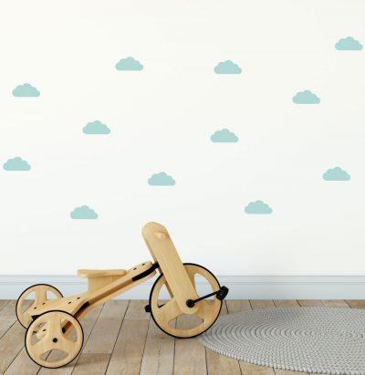 Aqua cloud wall stickers   Cloud wall stickers   Stickerscape   UK