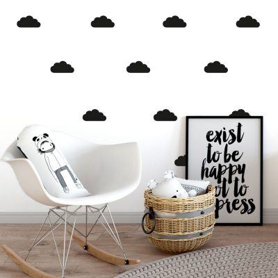 Black cloud wall stickers | Cloud wall stickers | Stickerscape | UK