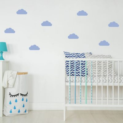 Soft blue cloud wall stickers | Cloud wall stickers | Stickerscape | UK