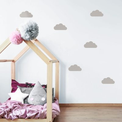 Light grey cloud wall stickers | Cloud wall stickers | Stickerscape | UK