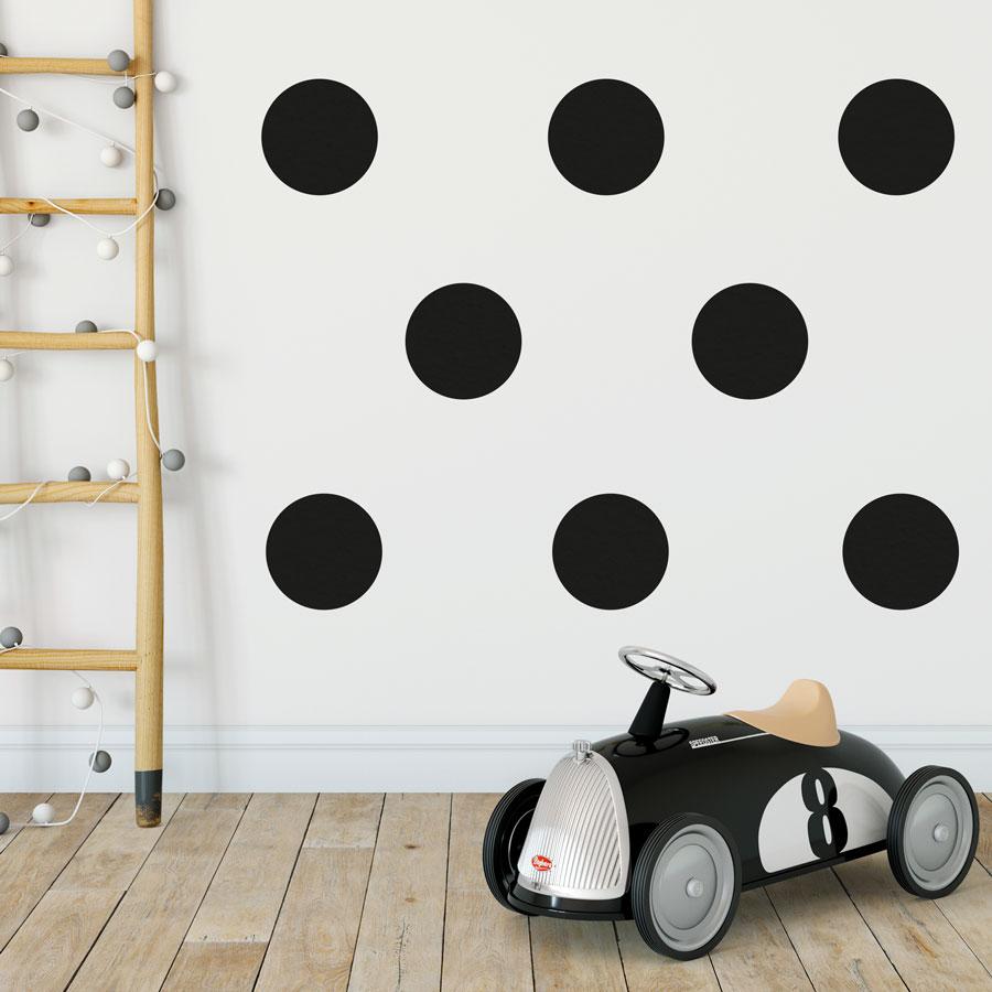 Black circle wall stickers | Shape wall stickers | Stickerscape | UK