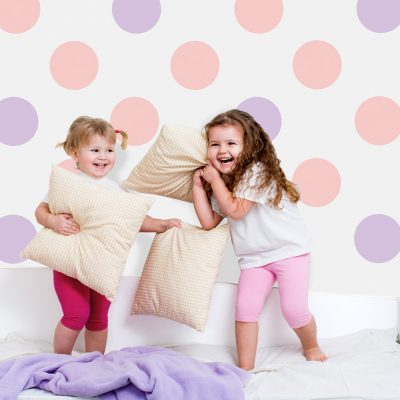 Pink and lilac circle wall stickers | Shape wall stickers | Stickerscape | UK