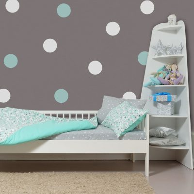 Aqua and white spot wall stickers | Shape wall stickers | Stickerscape | UK