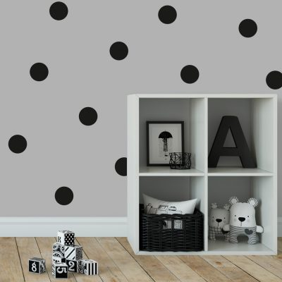 Black spot wall stickers | Shape wall stickers | Stickerscape | UK