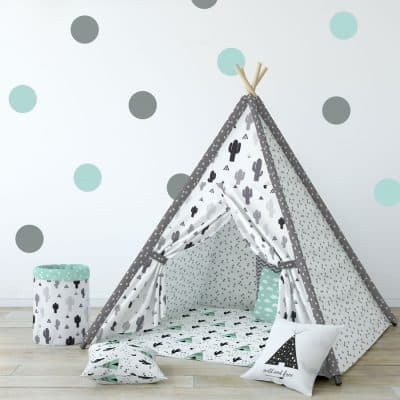 Grey and aqua spot wall stickers | Shape wall stickers | Stickerscape | UK