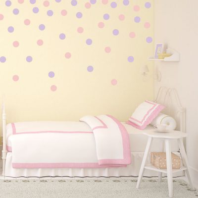 Pink and lilac spot wall stickers | Shape wall stickers | Stickerscape | UK