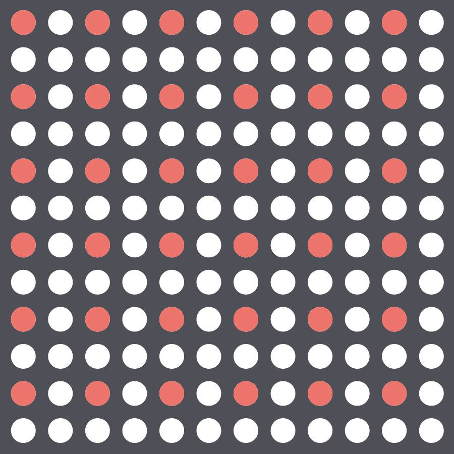 White and coral dot wall stickers | Shape wall stickers | Stickerscape | UK
