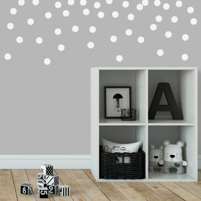White dot wall stickers | Shape wall stickers | Stickerscape | UK