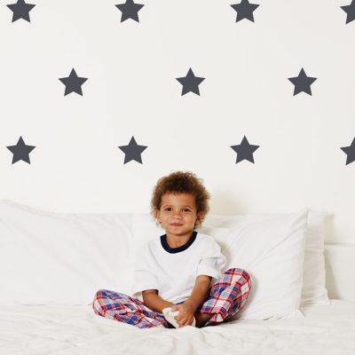 Dark grey star wall stickers | Shape wall stickers | Stickerscape | UK
