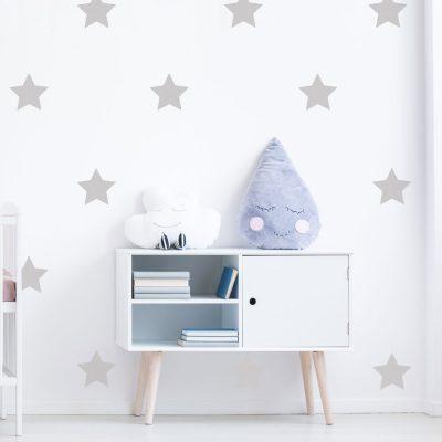 Light grey star wall stickers | Shape wall stickers | Stickerscape | UK
