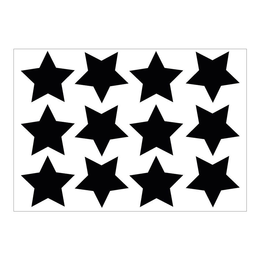 Black star wall stickers | Shape wall stickers | Stickerscape | UK