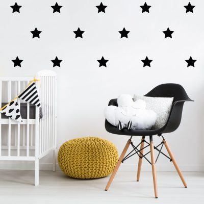 Black star wall stickers | Shape wall stickers | Stickerscape | UK