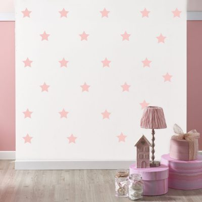 Pink star wall stickers | Shape wall stickers | Stickerscape | UK